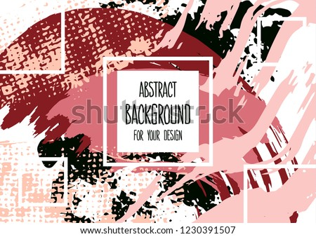 Universal background. Abstract background for your design. Colorful elements. Cover, flyer, banner, web, print. Acrylic #1230391507