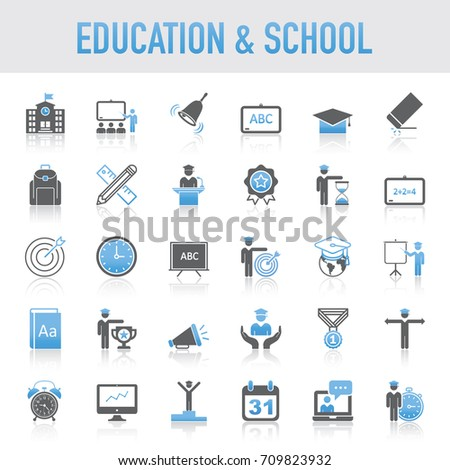 Universal Education And School Icons