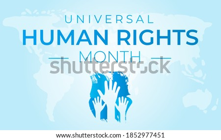Universal Human Rights Month Red Background Illustration Foto stock ©