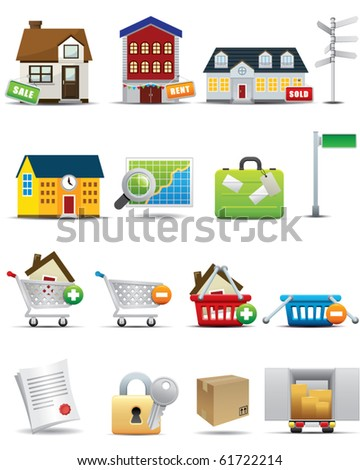 Universal icons Set -- Real Estate Business Icon