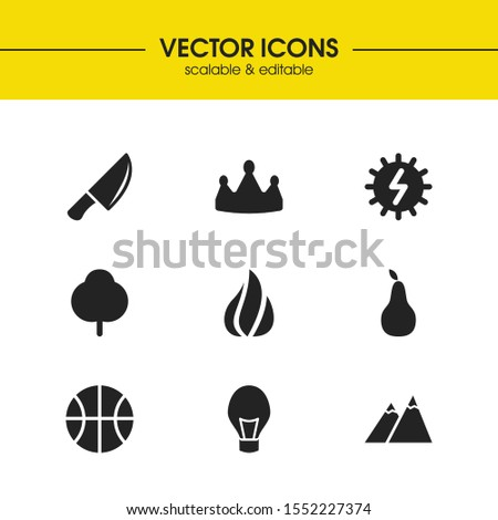 universal icons set with