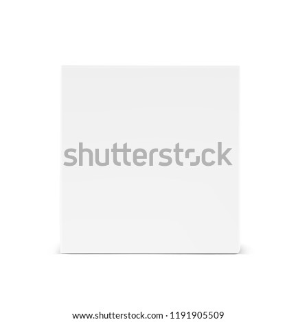Universal mockup of blank cardboard box. Vector illustration isolated on white background, ready and simple to use for your design. EPS10.