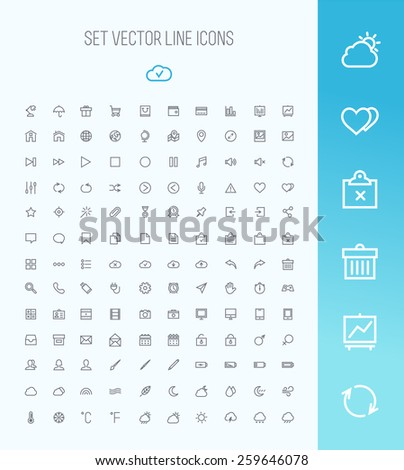 Universal Outline Icons For Web and Mobile