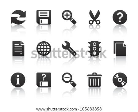 Universal software icons stock vector illustration Vector image software