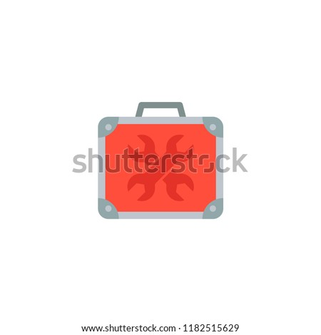 Universal toolbox icon flat element. Vector illustration of universal toolbox icon flat isolated on clean background for your web mobile app logo design.