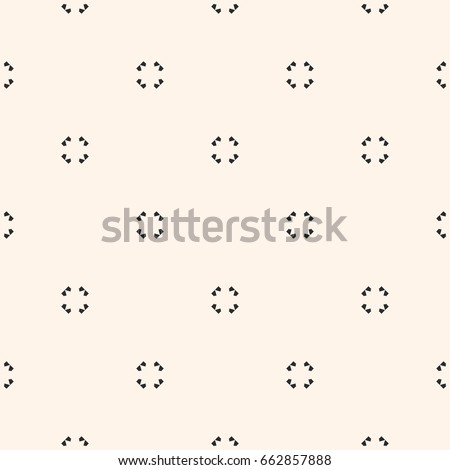 Universal vector seamless pattern. Simple light geometric texture. Abstract monochrome minimalist background with small floral shapes. Design element for decor, prints, textile, fabric, furniture, web