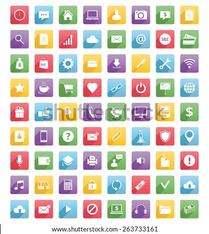 universal web icons and mobile