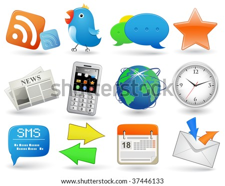 Universal website icon set - stock vector