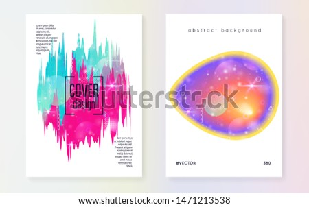 Universe flyer. Holographic gradients. 3d magic dreamer unicorn sparkles. Cosmic science banner with planet, sun, deep fluid light. Universe flyer with galaxy shapes and star dust.