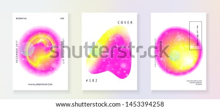 Universe flyer. Stellar science cover with planet, sun, deep fluid light. Holographic gradients. 3d magic dreamer unicorn sparkles. Universe flyer with galaxy shapes and star dust.