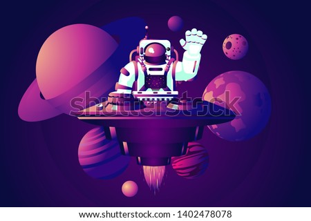 universe party dj astronaut