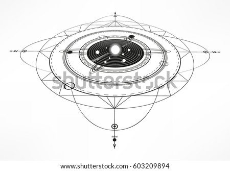 Solar system background download free vector art stock graphics solar system sacred geometry abstract background vector illustration abstract mystic sign ccuart Images