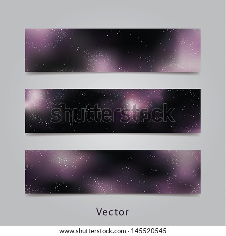 universe vector banners three