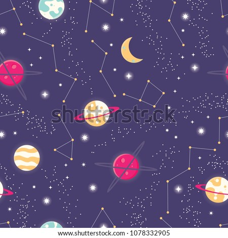 universe with planets and stars
