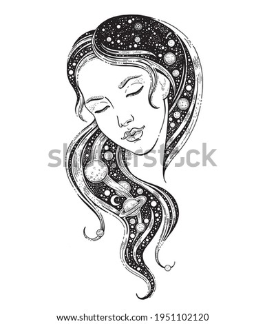 universe woman girl with
