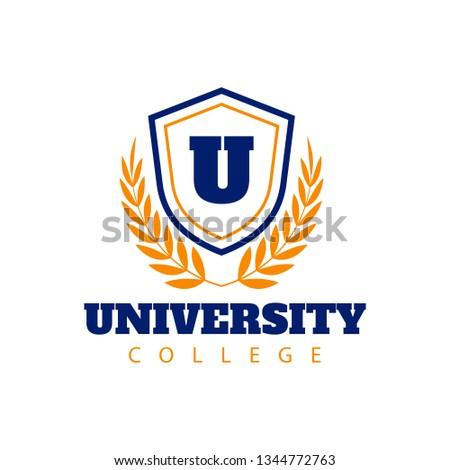 University and college school crests and logo emblems - Illustration - Vector