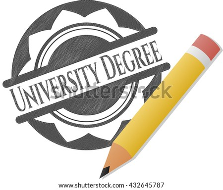 University Degree draw (pencil strokes)