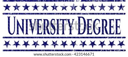 University Degree jean or denim emblem or badge background