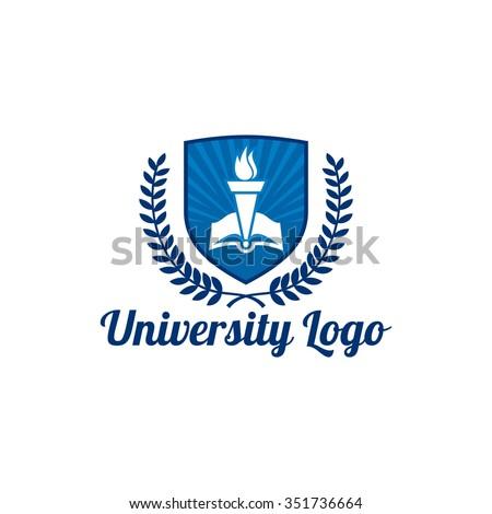 University education logo template