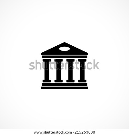 University, flat icon isolated on white background