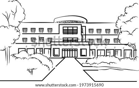 university highschool building