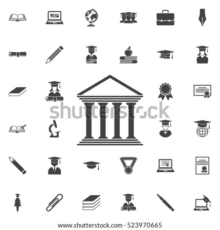 University Icon. Education set of icons