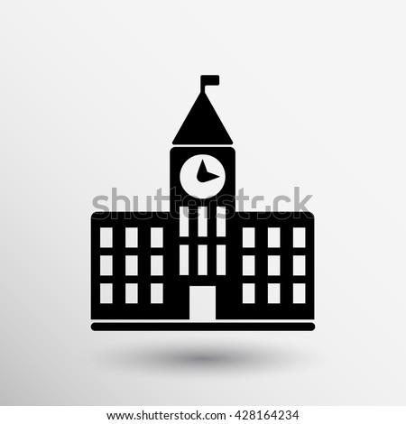 University Icon library sign symbol building school