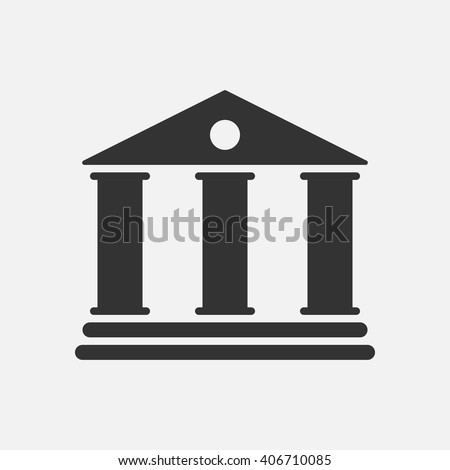 University icon vector, solid illustration, pictogram isolated on white