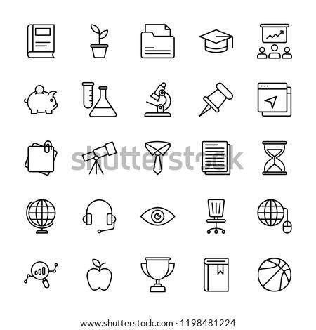 University Line Vector Icons