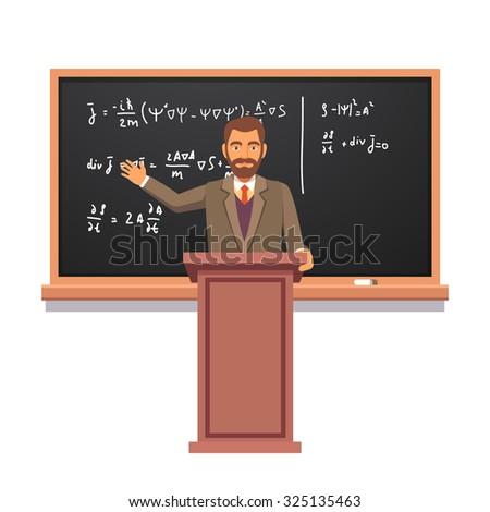 university professor standing