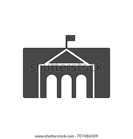 Universty building icon