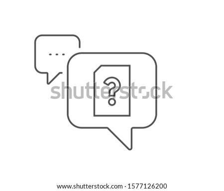 unknown document line icon