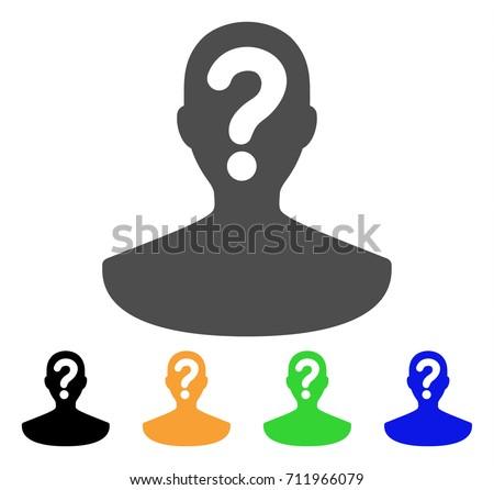 Unknown Person Wallpaper Vector Illustration Male Silhouette