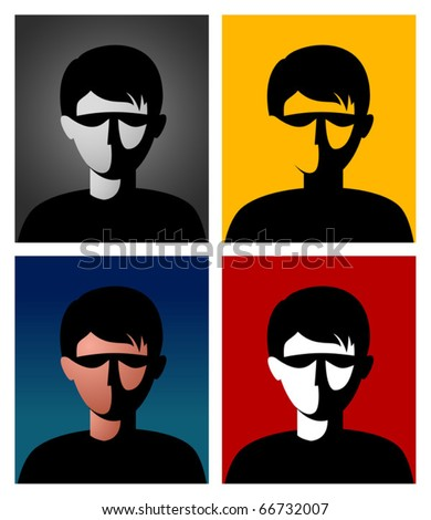 Unknown user avatar. Vector.