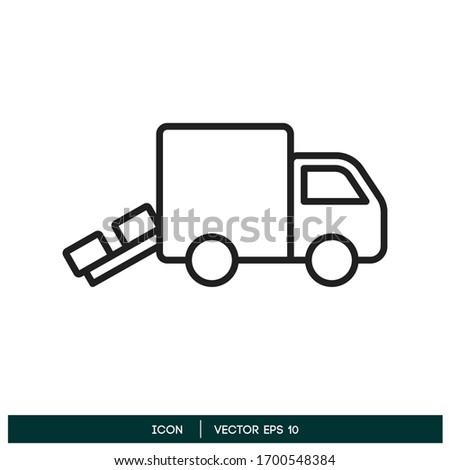 unloading truck icon vector design element vector eps 10 Stock photo ©