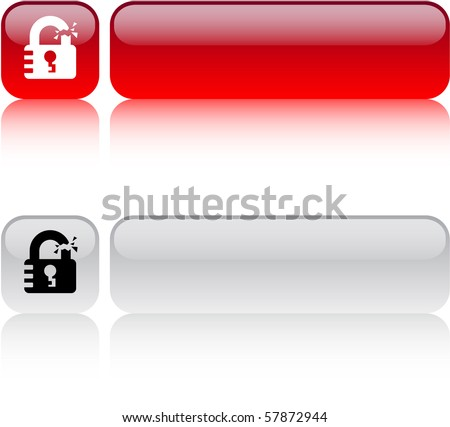 Unlock glossy square web buttons.