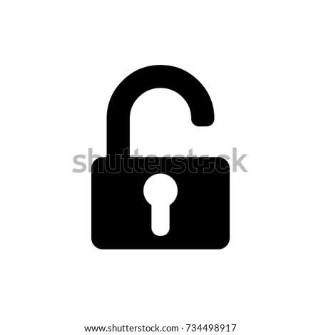 Unlock Icon in trendy flat style isolated on white background. Unlock icon symbol for your web site design,Unlock logo, app, UI. Vector illustration, Unlock icon eps10.