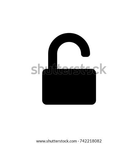 Unlock icon, Unlock icon vector, in trendy flat style isolated on white background. Unlock icon image, Unlock icon illustration