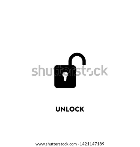 unlock icon vector. unlock sign on white background. unlock icon for web and app
