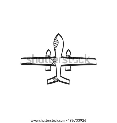 unmanned aerial vehicle icon in