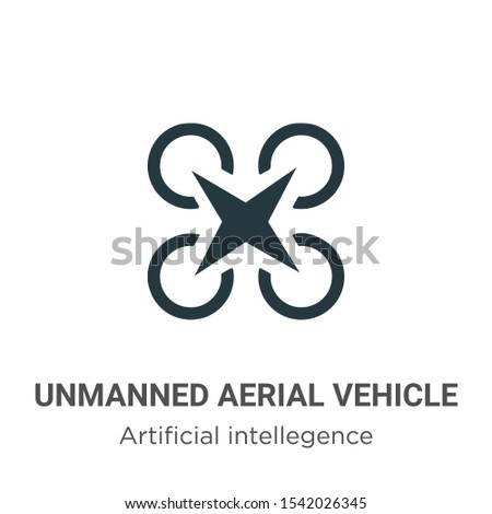 Unmanned aerial vehicle vector icon on white background. Flat vector unmanned aerial vehicle icon symbol sign from modern artificial intellegence and future technology collection for mobile concept