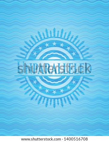 Unparalleled water wave concept style badge. Vector Illustration. Detailed.