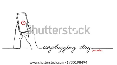 unplugging day simple vector