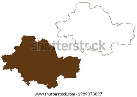 Unstrut-Hainich district (Federal Republic of Germany, rural district, Free State of Thuringia) map vector illustration, scribble sketch Unstrut Hainich Kreis map Stock foto ©
