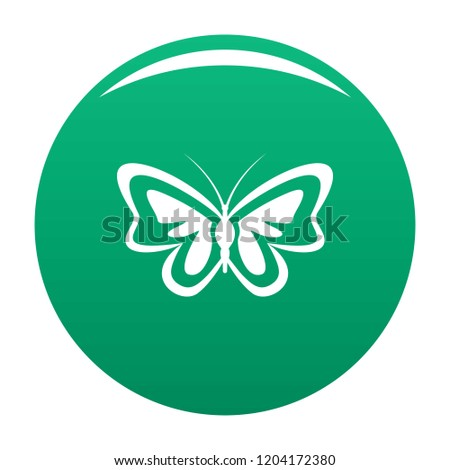 Unusual butterfly icon. Simple illustration of unusual butterfly vector icon for any design green