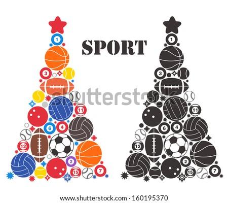 unusual christmas tree sport
