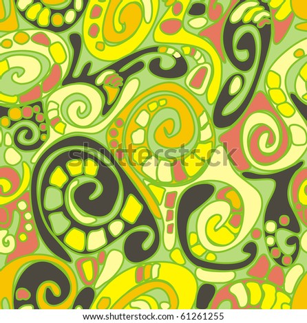unusual curled a seamless pattern