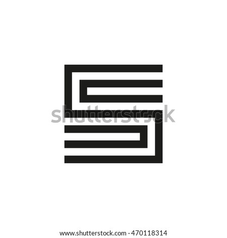 Unusual geometric letter S. Architecture vector logo. Isolated monogram.