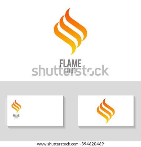 unusual minimalistic flame logo