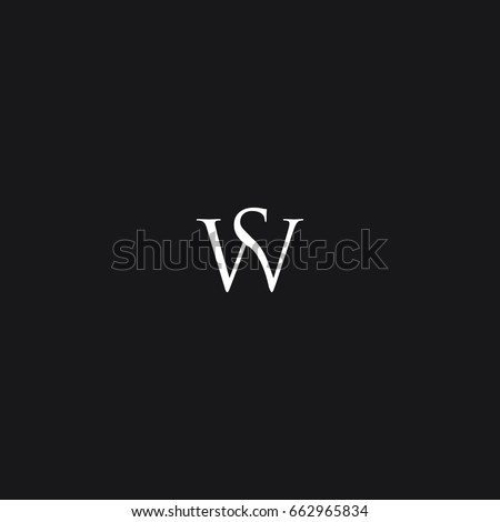 Unusual modern creative stylish connected fashion brands black and white color SW W S initial based letter icon logo. Zdjęcia stock ©